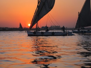 Sunset on the Nile, Egypt. (Photo: T Brennen)